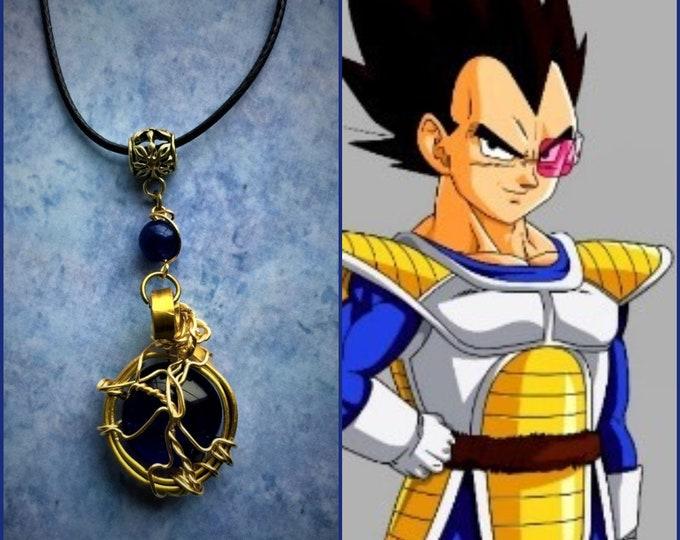 Vegeta DragonBall Z DragonBall Super Prince Vegeta Fan Art Wire Wrapped Necklace