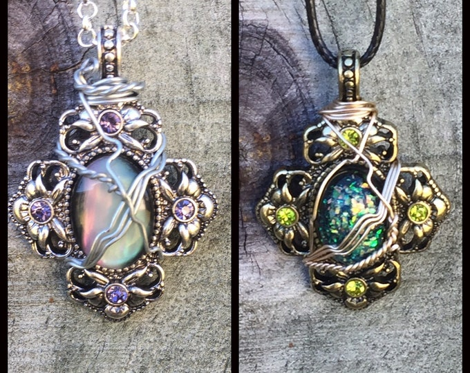 Supernatural Jewelry - - Back and to the Future Wire Wrapped Necklace
