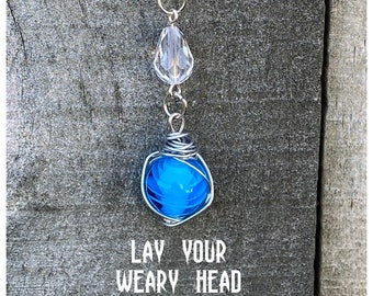LIMITED EDITION - Lay Your Weary Head to Rest - Supernatural Inspired Wire Wrapped Necklace