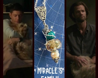 Miracle's Family - Supernatural Inspired Wire Wrapped Necklace Dean Winchester Jensen Ackles Carry On Series Finale