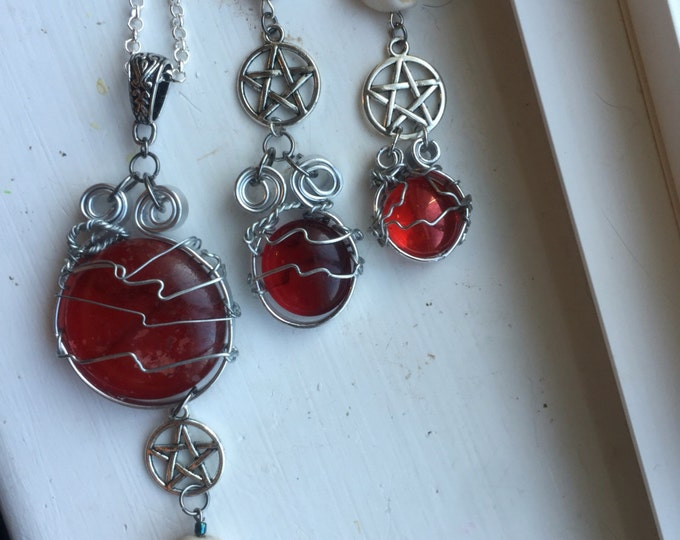 Supernatural Jewelry - Deception of Crowley - Supernatural Necklace Crowley Necklace Wire Wrapped Necklace