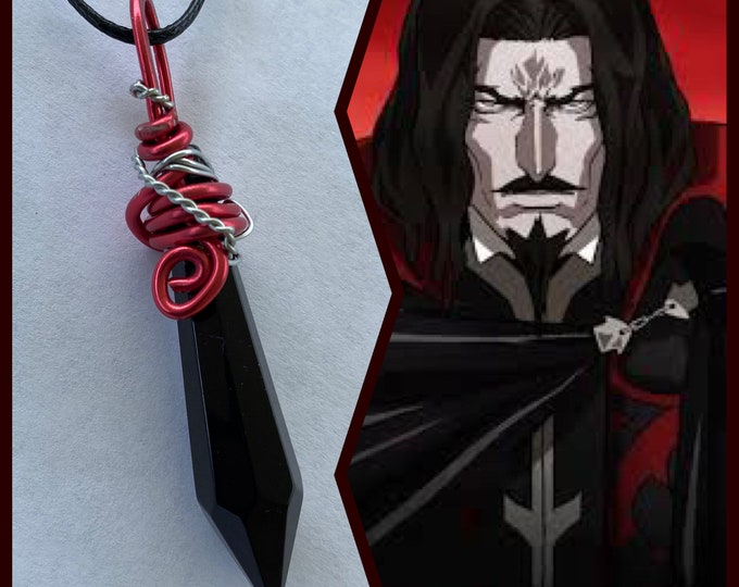Castlevania Jewelry -  Dracula - Castlevania Inspired Wire Wrapped Necklace - Ready to Ship