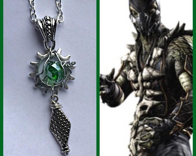 Mortal Kombat Jewelry - Reptile - Mortal Kombat Wire Wrapped Pendant