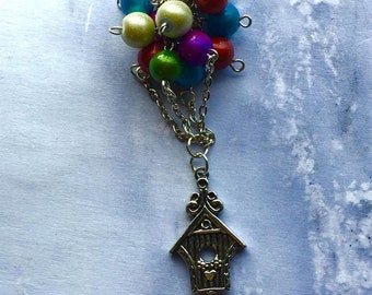 Up Movie Inspired Necklace Balloons House Charm