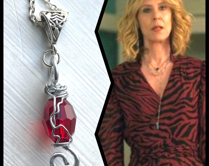 Evil Jewelry - Sheryl of Evil Necklace - Wire Wrapped Crystal and Silver Necklace