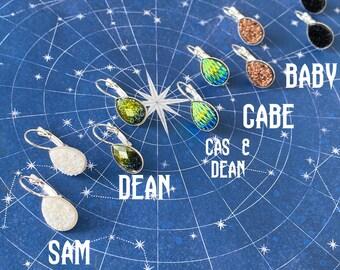 Supernatural Earrings - Teardrop Faux Druzy Supernatural Earrings