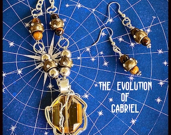 The Evolution of Dean Gabriel - Supernatural Inspired Wire Wrapped Necklace Earrings Richard Speight Junior