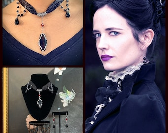 Vanessa - Penny Dreadful Inspired Wire Wrapped Victorian Gothic Choker Eva Green Fan Art