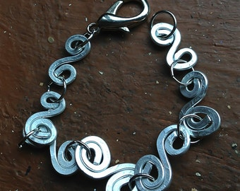 Goddess Spiral Silver Bracelet