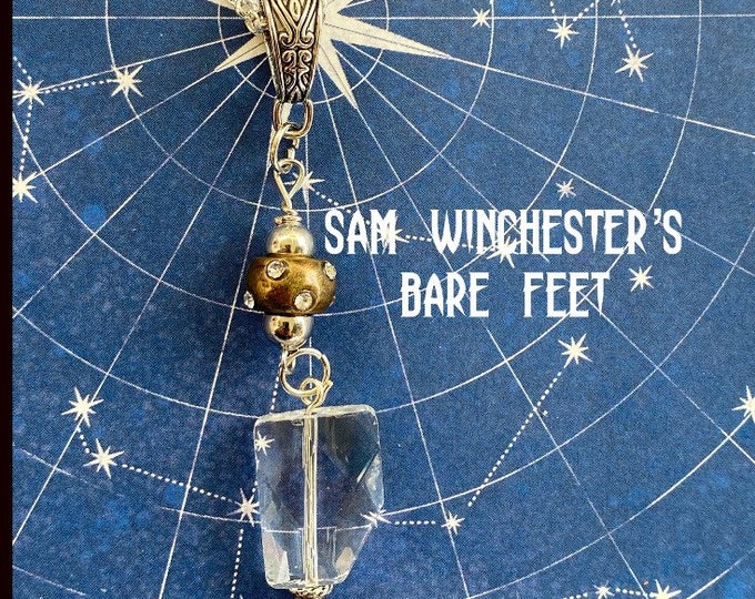 Supernatural Jewelry - Wire Wrapped Sam Winchester Necklace - Sam's Bare Feet