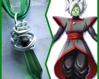 Fused Zamasu - DBZ Dragon Ball Super Inspired Wire Wrapped Crystal Necklace Fan Art