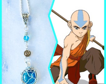 Avatar the Last Airbender Jewelry -  Aang -  Wire Wrapped Necklace