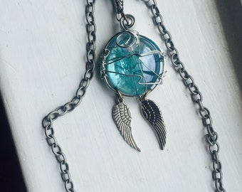 Castiel's Grace Wrap Necklace Castiel Misha Collins SPN Supernatural SPNFamily Angel Wings