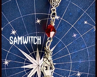 SamWitch- Supernatural Inspired Wire Wrapped Necklace Sam Winchester Jared Padalecki