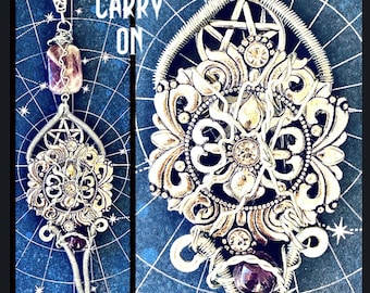 Carry On - Supernatural Series Finale Inspired Wire Wrapped Necklace - Pentagram Sam Winchester Dean Winchester