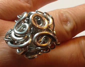 Silver Rose Totem Ring - Wire Wrapped Ring