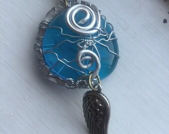 Supernatural Jewelry - Castiel's Grace Restored Wire Wrapped Necklace Castiel Cas Misha Collins SPN Supernatural