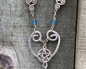 My Love for the SPNFamily- Supernatural Inspired Wire Forged Heart Necklace