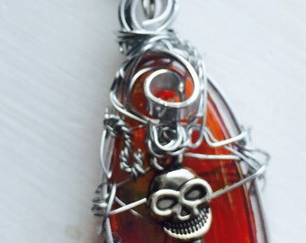 LAST CHANCE SALOON - Crowley's Humanity Mark Sheppard Supernatural Inspired Wire Wrapped Necklace