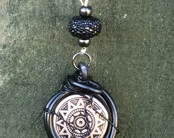 Drivers - START YOUR ENGINES  - Supernatural Jensen Ackles Dean Winchester Inspired Wire Wrapped Necklace