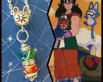 READY TO SHIP Yamcha -  Dragon Ball Yamcha Puar Fan Art Wire Wrapped Necklace