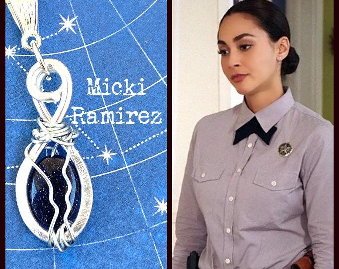 Walker Jewelry - Micki Ramirez- Walker Necklace Wire Wrapped Necklace Goldstone Sandstone Lindsey Morgan