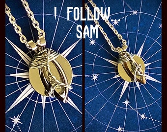 I Follow - Limited Edition Supernatural Inspired Wire Wrapped Necklace Sam Winchester Dean Winchester Castiel Gabriel Jack