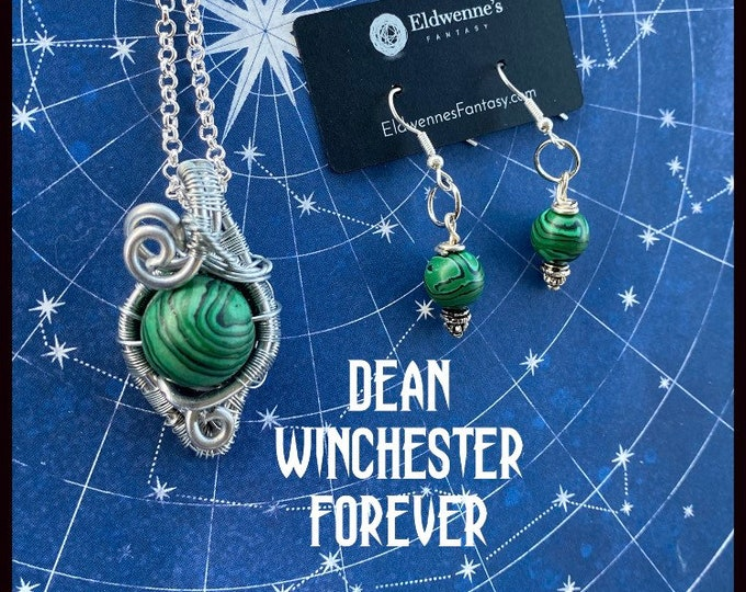 Supernatural Jewelry - - Dean Winchester Forever - Wire Wrapped Necklace