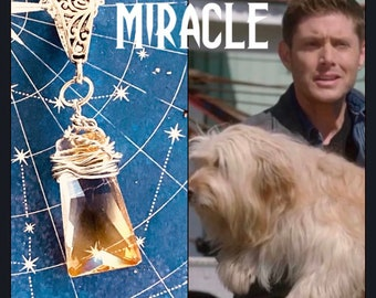 Supernatural Season 15 - Miracle - Series Finale Wire Wrapped Necklace Ready to Ship