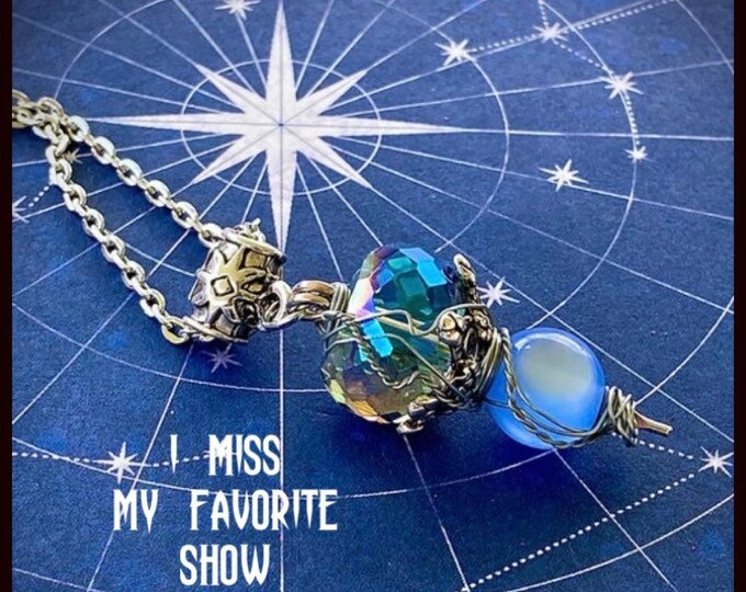 Supernatural Jewelry - - I Miss My Favorite Show - Wire Wrapped Necklace Ready to Ship