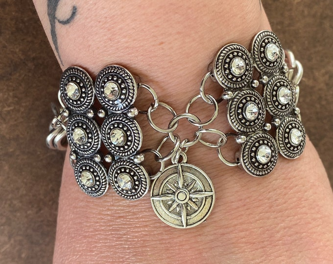 Featured listing image: Yennefer of Vengerberg Inspired Bracelet The Witcher Anya Chalotra Compass