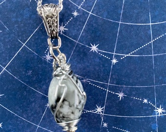 Creation and Destruction - Supernatural Inspired Wire Wrapped Necklace Amara Emily Swallow