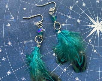 Castiel Inspired Feather Earrings Supernatural