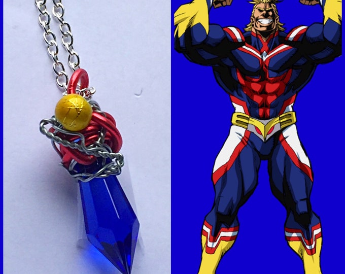 All Might - My Hero Academia inspired Wire Wrapped Necklace - Fan Art