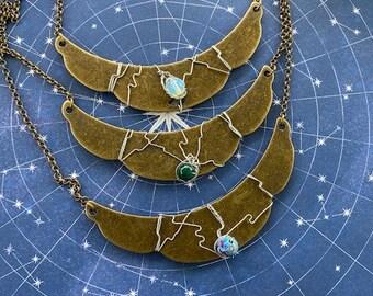 The Bronze Age - Supernatural Inspired Wire Wrapped Necklaces Sam Dean Castiel Semi Precious Stones