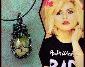 Debbie Harry Inspired Wire Wrapped Necklace and Earrings Set