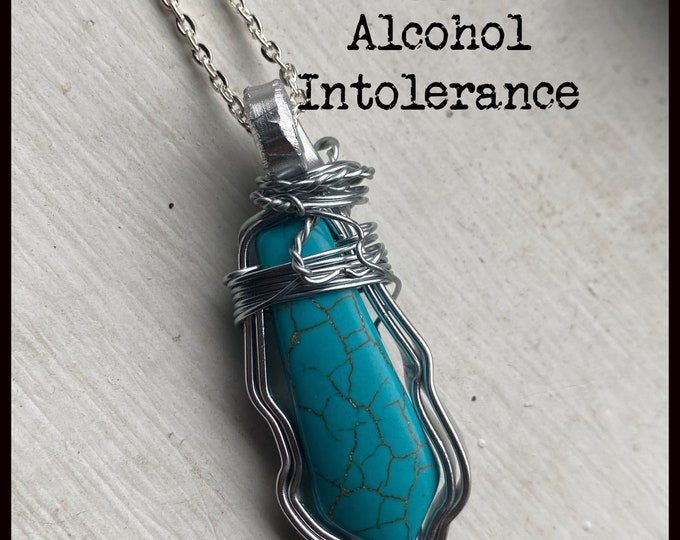 Walker Jewelry - Auggie's a alcohol Intolerance - Walker Necklace Wire Wrapped Necklace  - Jared Padalecki Kale Culley