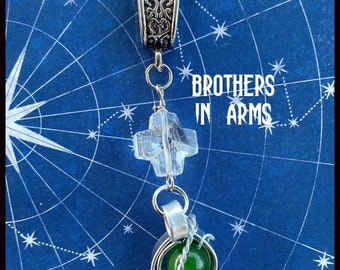 Brothers in Arms - Supernatural Series Finale Inspired Wire Wrapped Necklace - Sam Winchester Dean Winchester