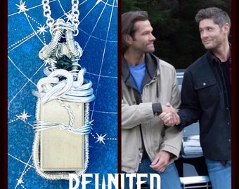 Reunited - Supernatural Series Finale Inspired Wire Wrapped Necklace - Dean Winchester Sam Winchester Carry On