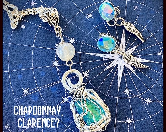 Supernatural Jewelry - - Chardonnay, Clarence? - Wire Wrapped Necklace Earrings Set