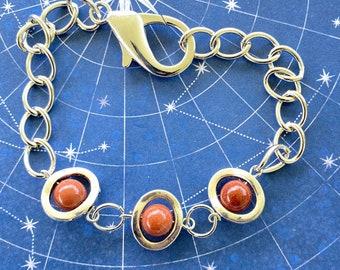 Gabriel Inspired Goldstone Bracelet - Supernatural Gabriel Richard Speight Jr