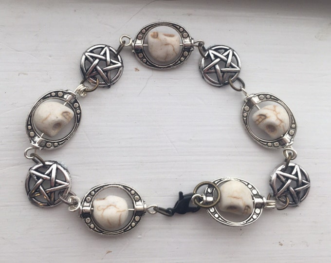 Supernatural Jewelry - The Winchester Life Cycle Bracelet - Supernatural Pentagrams Skulls sam winchester dean Winchester