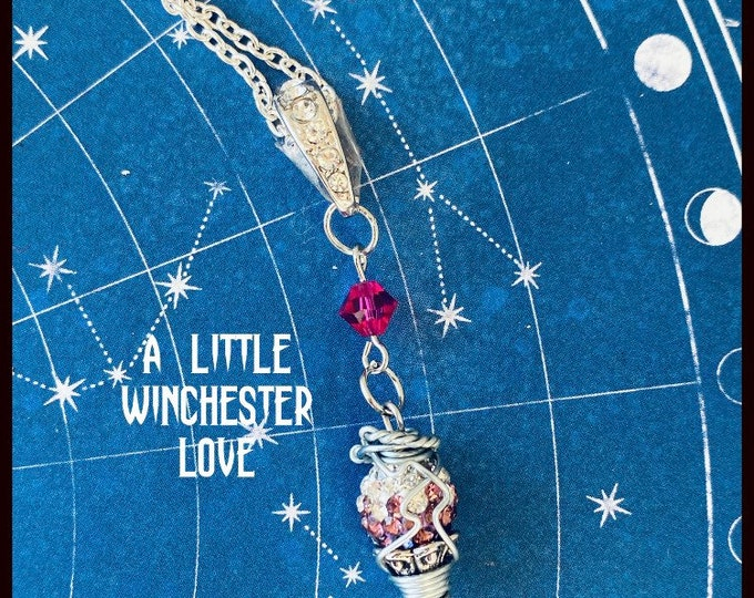 Supernatural - A Little Winchester Love - Supernatural Inspired Wire Wrapped Necklace Sam Dean Winchester Jensen Ackles Jared Padalecki