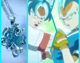 Best Baseball Game Ever - Dragon Ball Super Inspired Wire Wrapped Necklace DragonBall Z Prince Vegeta Goku Fan Art