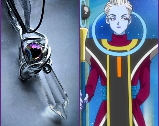 Whis Inspired Wire Wrapped Necklace DragonBall Z DragonBall Super Fan Art Wire Wrapped Necklace