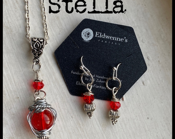 Walker Jewelry - Stella - Walker Necklace Wire Wrapped Necklace and Earrings set - Jared Padalecki