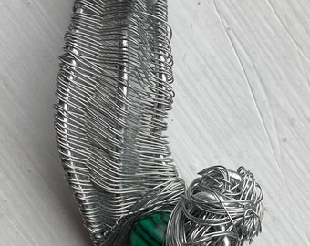 My Chemical Romance Necklace Wire Wrapped Malachite Necklace - So Long and Goodnight