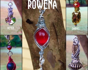 The Rowena Hookup Necklace- Supernatural Rowena Ruth Connell Inspired Wire Wrapped Necklace