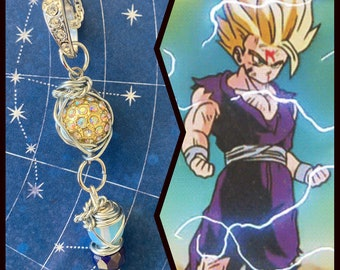 READY TO SHIP Gohan - Cell Saga -  Dragon Ball Gohan Fan Art Wire Wrapped Necklace