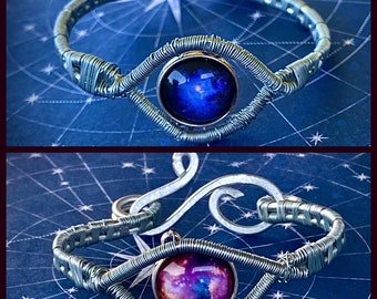 My Supernatural Universe - Woven Wire Wrapped Galaxy Bracelet